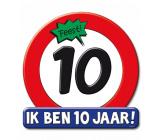 Huldeschild verkeersbord 10 jaar