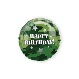 Folieballon Happy Birthday leger (AM118128)