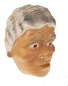 Masker oudere vrouw met grijs golvend haar (34244P)