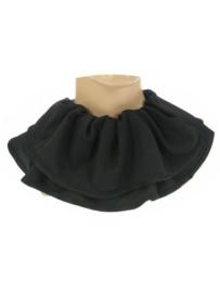 Trevira piet kraag zwart (12057P)