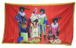 Vlag Sint en Piet -  90 x 150 cm (64273E)