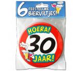Bierviltjes verkeersbord 30 jaar - 6 stuks