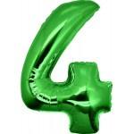 Folie Cijfer 4 - 100 cm Groen