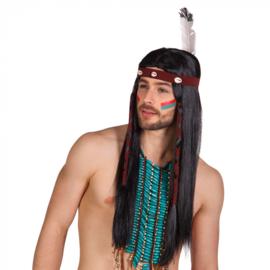 Pruik indiaan (85783B)