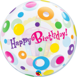 Bubble Birthday Cupcake & Dots (23606Q)