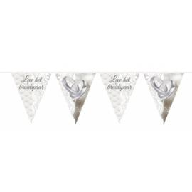 Vlaggenlijn Leve het bruidspaar / Ringen - 10 meter (21363F)