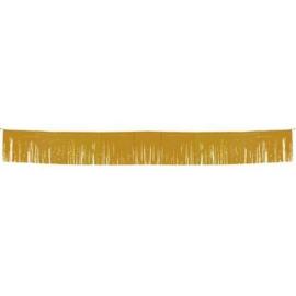 Goudkleurige franje slinger / vlaggenlijn - 6 mtr (22647F)