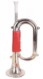 Trompet zilver - 34 cm (84874P)