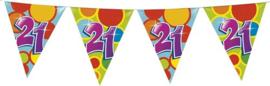 Vlaggenlijn ballonnen leeftijd 21 jaar (10 meter)