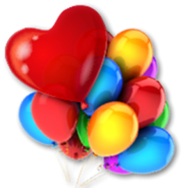 Latex ballon met helium