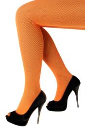 Netpanty Neon Oranje fijne mazen - volwassenen (11068P)