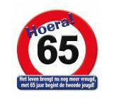 Huldeschild verkeersbord 65 jaar