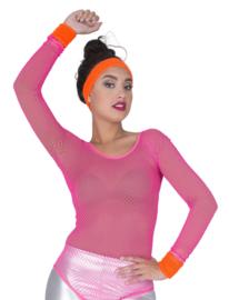 Set zweetbanden fluo oranje (80181E)