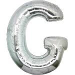 Folie Letter G - 100 cm Zilver