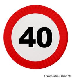 Bordjes verkeersbord 40 jaar (84613E)