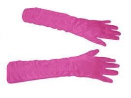 Lange handschoenen met stretch - Roze (60197E)