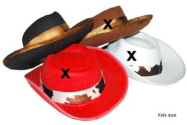 Cowboyhoed zwart met band Kind (50364E)