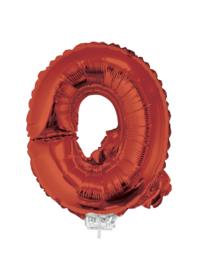 Folie Letter Q - 41 cm Rood (met stokje)