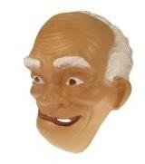 Masker oude man - witte haren  (34245P)