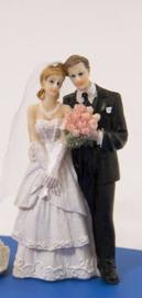 Trouwfiguurtje / bruidspaar man en vrouw (21251F2)