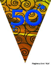 Vlaggenlijn Huwelijk 50 jaar - 5 meter (64270E)