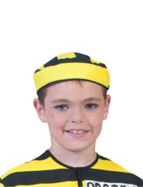 Muts zwart geel boef  kind (51221E)