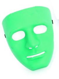 Masker met serieuze blik - Groen (34840P)