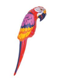 Papegaai  opblaasbaar - 65 cm (64414E)