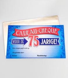 Cadeau-cheque 75 JAAR! (24PD)
