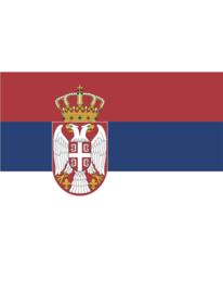 Vlag Servië - 90 x 150 cm (62687E)