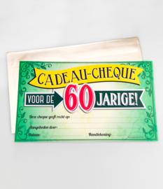 Cadeau-cheque 60 JAAR! (21PD)