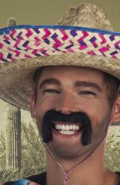 Snor Mexicaan zwart (01807B)