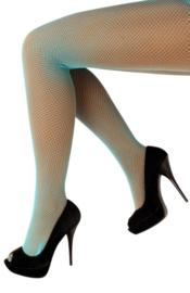 Netpanty Neon Blauw fijne mazen - volwassenen (11069P)