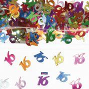 Tafelconfetti - sierconfetti  - 16 jaar (05310F)