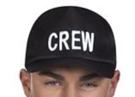 Cap CREW zwart - verstelbaar (97059B)