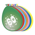 Ballonnen 60 jaar (30cm, 8 stuks)
