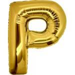 Folie Letter P - 100 cm Goud