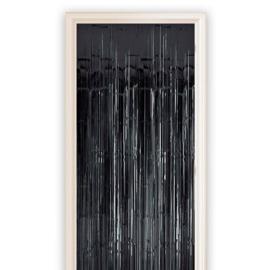 Folie deurgordijn Zwart 100 x 250 cm (13017W)