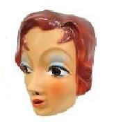 Masker mooie vrouw - bruine haren (34302P)