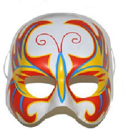 Halfmasker gevlamd (61376E)