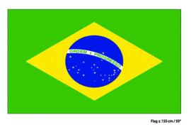 Vlag Brazilië - 90 x 150 cm (62256E)