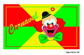 Vlag Canaval / Clown -  90 x 150 cm (62398E)