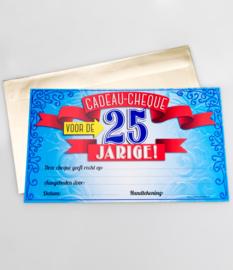 Cadeau-cheque 25 JAAR! (15PD)