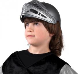 Kinder helm ridder zilverkleurig (44033B)