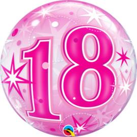 Bubble 18 jaar - Pink Starburst Sparkle  (43122Q)