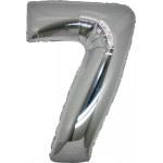 Folie Cijfer 7 - 66 cm Zilver