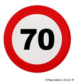 Bordjes verkeersbord 70 jaar (84625E)