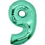 Folie Cijfer 9 - 100 cm Tiffany