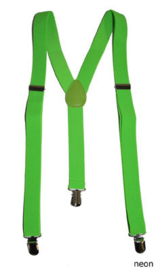 Bretel Fluor / Neon groen 2,5 cm breed (60829E)
