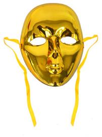 Masker goud - kunststof (61822E)